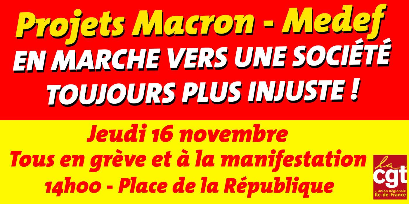 Bandeau manifestation 16/11/17