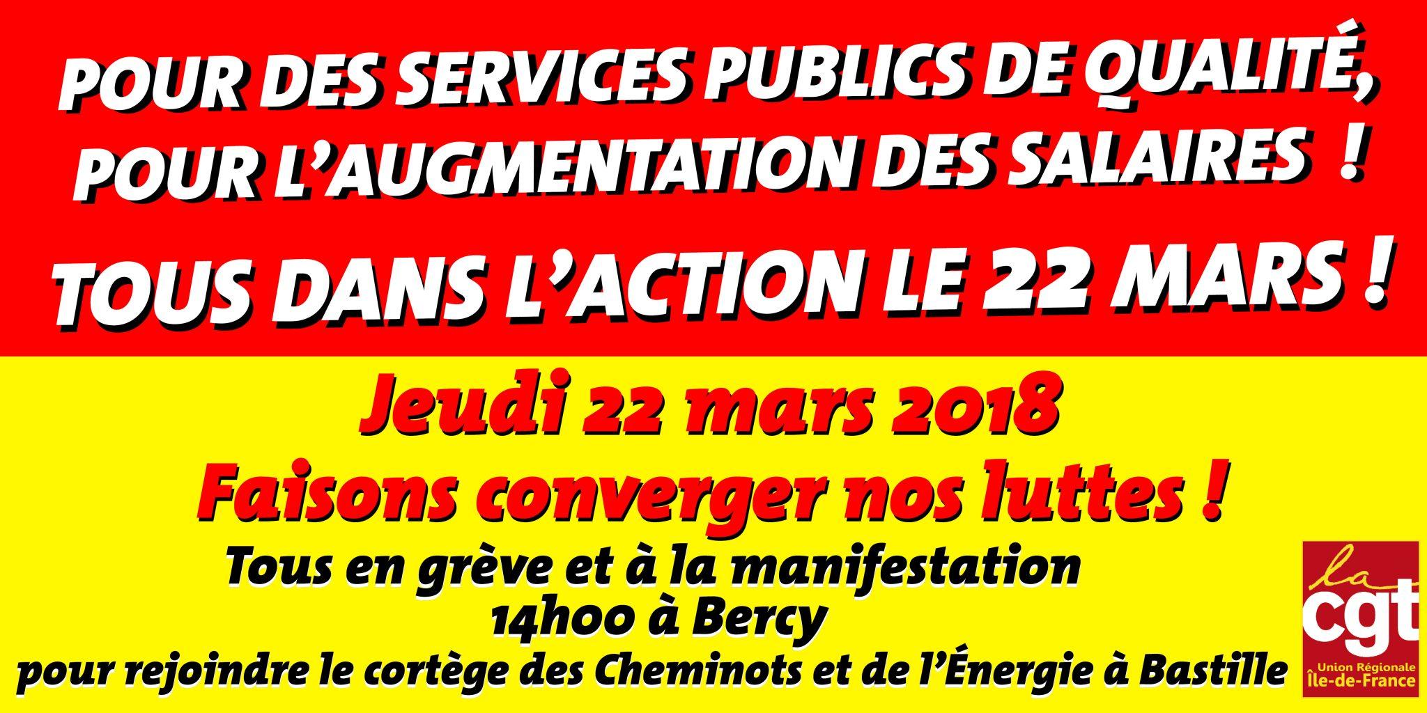 bandeau manifestation 22 Mars 2018