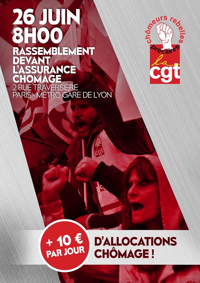 affiche +10€/jour d'allocation chômage